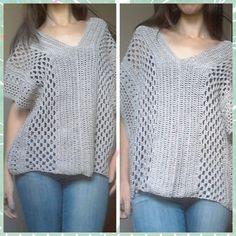Bata Fashion em Croche / Fashion Crochet Cover up