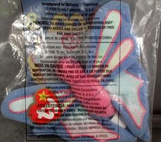 dbd64fca74d Ty Teenie Beanie Babies McDonalds Flitter the Butterfly  8 2000 NIP Age 1+