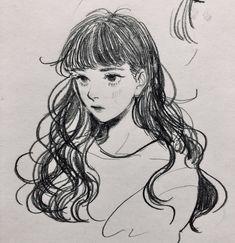 Drawing sketches, cool drawings, cartoon drawings, aesthetic drawing, a Pencil Art Drawings, Art Drawings Sketches, Cute Drawings, Sketch Art, Portrait Sketches, Cartoon Kunst, Cartoon Art, Cartoon Drawings, Pretty Art
