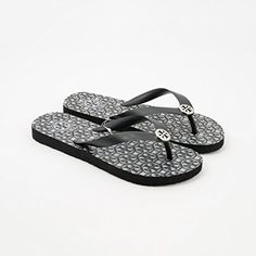 cb88b0f1b85ea Tory Burch TB Logo Flip Flop Lattice Black Logo Combo Size 7   Click on the  image for additional details. (This is an affiliate link)   ...