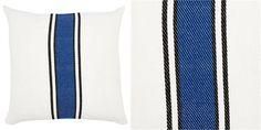 Regatta Stripe Pillow – Monaco Blue