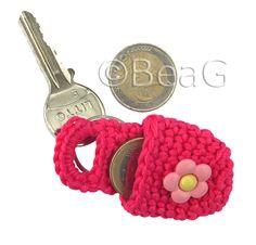 Keychain Coin Holder - crochet idea #quickgift