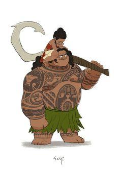 Maui and Moana best friends forever  #moana #maui #fanart