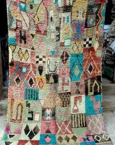 Moroccan boujaad rug 240 x 150 cm  7ft10 x 4ft11