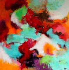 Farverigt maleri Kunstner Mette Vester