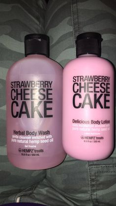 strawberry cheese cake herbal body wash/lotion. HEMPZ'treats  smellllls so good