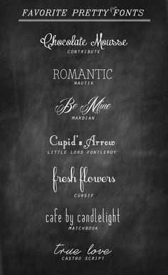 My Favorite Pretty + Free Fonts by Kellynn1010