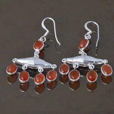 RED ONYX 925 STERLING SILVER LADIS EARRING 5.15g DJER3296 #Handmade #EARRING