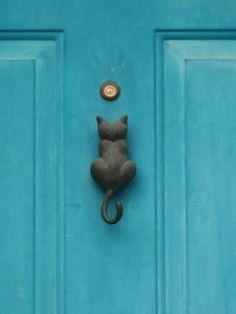 Cat door knocker!