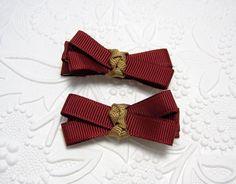 Florida State Ribbon Bow Hair Clips by LemonandBees on Etsy, $4.00