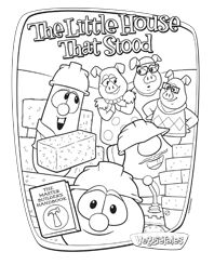 Free Activity The Little House That Stood Coloring Sheet VeggieTales