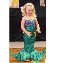 girl's custom size shimmering Ariel little mermaid by TheSaltGypsy, $111.00