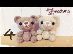 How to crochet a Amigurumi bear 6/6 くまのあみぐるみの編み方[お顔] - YouTube
