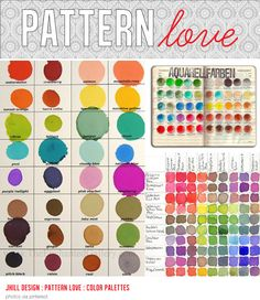 Pattern Love - paint swatches. i love watercolor palettes.