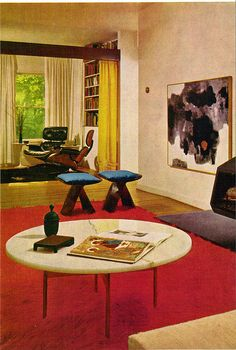 From the Practical Encyclopedia of Good Decorating and Home Improvement. Luxury Homes Interior, Interior Exterior, Mid Century Decor, Mid Century Design, 1970s Living Room, Living Rooms, Retro Interior Design, 1970s Decor, Zen Room