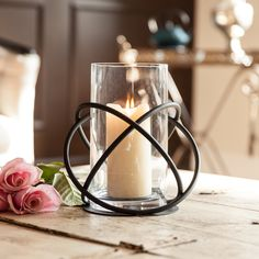 Danya B™ Large Metal and Glass Orbits Hurricane Candleholder - Overstock Shopping - Great Deals on Danya B Candles & Holders