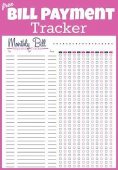 bill pay checklist template