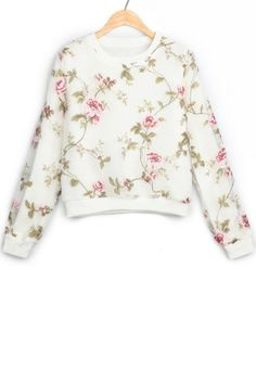 Idk when or what season I would wear a floral sweater but I want one!