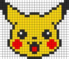 Pearler Beads Pikachu #beading #pearlerbeads #ideas