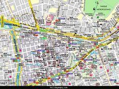 nice Map of Santiago Tourist