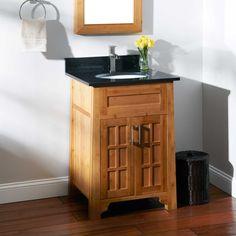 "24"" Bangkok Bamboo Vanity for Undermount Sink - Bathroom Vanities - Bathroom"