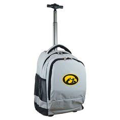 Iowa Hawkeyes Premium Wheeled Backpack, Grey