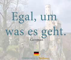 Egal um was es geht. Source: Die Welt  Useful words and phrases:    Egal | no matter  um was es geht | what its about Notes:  Um is an accusative preposition. It means about or at in reference to time. For example: um sechs Uhr | at six o'clock. Notice how the verb geht from gehen is at the end of the phrase. This is because it is a part of a dependent clause. Related Idiomatic Phrases  Es ist mir egal. | I dont mind./I couldnt care less.  Er geht ihr auf den Keks! | He gets on her nerves…