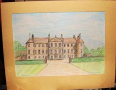 Brechin Castle: This was done in stages starting in pencil line drawing building up the work adding details then used coloured pencils over the top