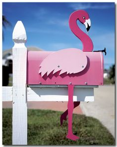 pink flamingo mailbox