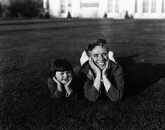 Charlie Chaplin and Dinky Reisner