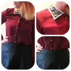 Pleather skirt, primark shirt. S'all in the Detail. #fbloggers