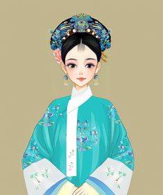 Chinese Style, Chinese Fashion, Gold Wedding Crowns, Snow White, White Dress, Disney Princess, Disney Characters, Dresses, Anime