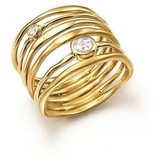 Ippolita 18K Yellow Gold Glamazon Stardust Movie Star Ring with... (€2.810) ❤ liked on Polyvore featuring jewelry, rings, yellow gold rings, diamond rings, 18k diamond ring, 18 karat gold ring and ippolita jewelry