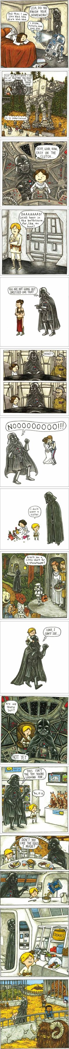 If Darth Vader Was a Good Father... this is so funny and cute!