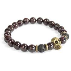 3 x Bronze Skull/Blood Stone - Gemstone Bracelet Hamsa, Gemstone Bracelets, Gemstone Beads, Boho Jewelry, Unique Jewelry, Jewellery, Swarovski, Healing Stones, Skull