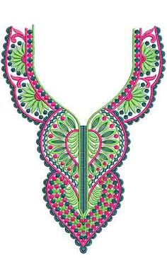 10413 Neck Embroidery Design