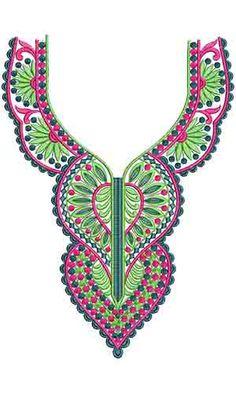 10413 Neck Embroidery Design