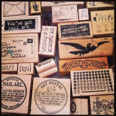 Mail art stamps...