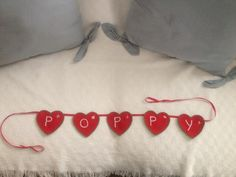 Personalised Hearts Banner