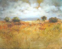 """Pejzaż Jurajski""- 40x50 olej, płótno, art gold Painting, Art, Art Background, Painting Art, Kunst, Paintings, Performing Arts, Painted Canvas, Drawings"