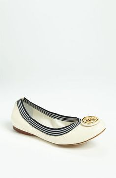 7638a2630a19 Tory Burch  Caroline  Flat available at  Nordstrom White Flats