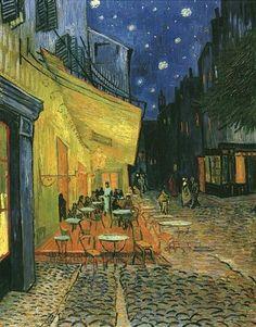 Vincent Van Gogh - Esterno del caffè di notte, 1888