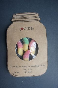 edible love bug wedding favours from etsy