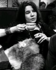 Tea Time with Janis Joplin at Ratner's Restaurant after a Fillmore East Gig in New York City, 1968.