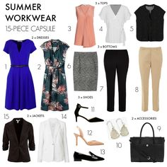 Dressing for the office in the heat of summer is a challenge. These 10 tips plus a 15-piece summer workwear capsule wardrobe will help.