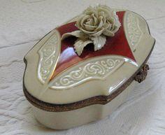 Vintage Porcelain IVORY ROSE BOX 1920s by vintagous on Etsy, $29.00