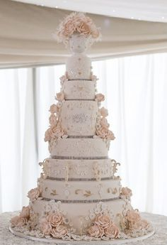 Wedding Rings Simple underneath Traditional Wedding Cake Designs Pictures as Wed. 8 Tier Wedding Cakes, Large Wedding Cakes, Extravagant Wedding Cakes, Luxury Wedding Cake, White Wedding Cakes, Elegant Wedding Cakes, Elegant Cakes, Beautiful Wedding Cakes, Wedding Cake Designs