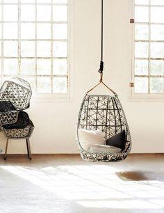 fauteuil suspendu pour intérieur ou extérieur par Kettal