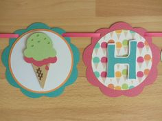 Ice Cream Popsicle Birthday Party Shower Banner Sign Pink Orange Green Blue Teal Summer Picnic Sweet Treats by PeachyPaperCrafts