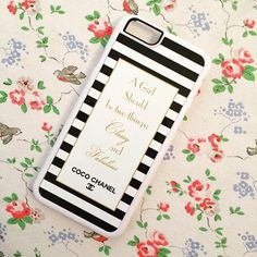 iPhone Coco Chanel quote phone case 'A girl should be two